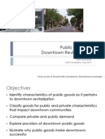 Downtown Revitalization/Public Goods PowerPoint Presentation