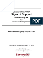 Signs of Support Application 2014