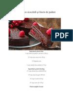 Tort   cu ciocolată şi fructe de padure