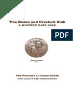 The Boone and Crockett Club History