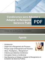 Condiciones Adoptar Adaptar Reingenieria Gerencia Publica