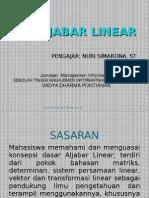Aljabar Linear 1