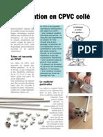 (2) Plomberie - Alimentation en CPVC collé