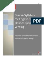 English 3100 Course Syllabus
