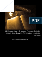 119174064 16 Metode de a Scrie Un Articol