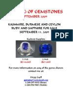Burmese and Kashmire Gemstones
