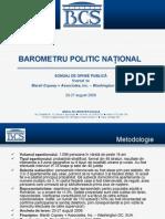 Optiuni Politice August 2009 BCS