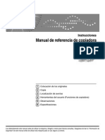 Manual Copiadora Ricoh