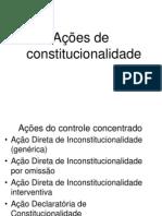 ações de constitucionalidade