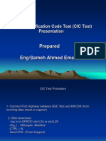 Circuit Identification Code Test (CIC Test) Pres
