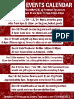 Fishmas Events Calendar