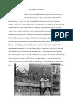 Description of Berlin Wall Paragraph