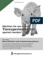 Tierversuche Im Brennpunkt - Teil 21 - Keine Tierversuche Am Herzzentrum Bad Oeynhausen - Aerzte-gegen-tierversuche.de