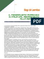 Di Lembo - Il federalismo anarchico in Italia