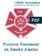 Ohio Fire Chiefs Association Position Statement on Smoke Alarms