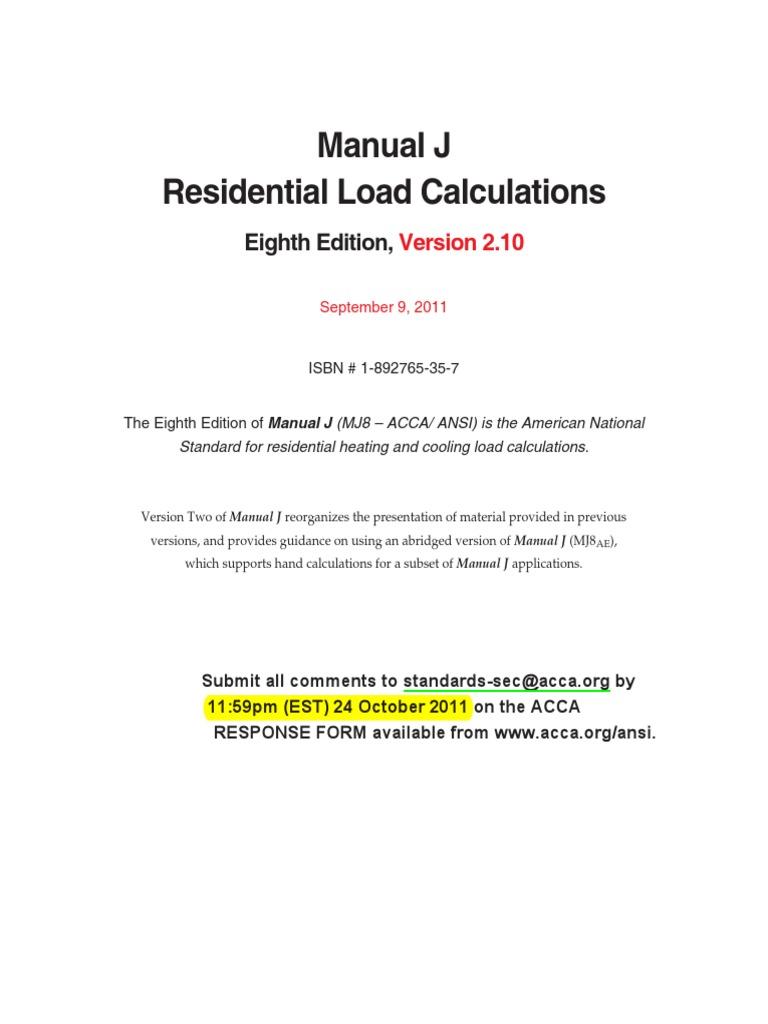 manual j residential load calculation hvac Array - pdf 1669 free ebook manual  j residential load calculation 8th rh atitayagdc94 2waky com