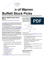 Warren Buffett Stock Picks Valuation