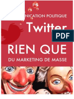TWITTER - Marketing Social de Masse