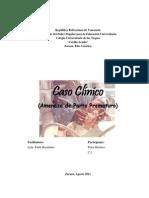 Caso Clinico Amenaza de Parto