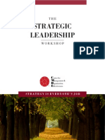 Strategic Leadership Workshop Brochure