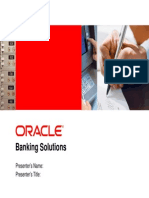 Oracle Banking Solution