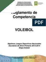 Reglamento de Competencia de Voleibol 2012-2013