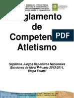Reglamento de Competencia de Atletismo 2013-2014