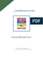 MNBC Natural Resource Act 2010