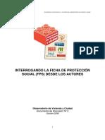 Interrogando la Ficha de Protección Social (FPS) desde los actores