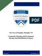 HUD audit of city of Memphis home repair program