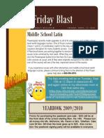 Friday, Sept 11, 2009 Blast