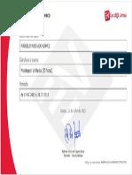 Certificado Modelagem de Dados