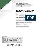Clarion Cdmp3wma Receiver Owners Manual Dxz658rmp for Clarion Dxz658rmp Car Stereo System