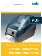 CAB MACH 4 Label Printer Brochure 2006