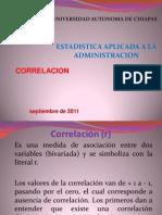 Correlación- Estadística Aplicada a la Administración