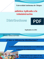 Distribuciones- Estadística Aplicada a la Administración