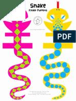 Mrprintables Snake Finger Puppets