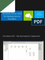 ENG WS2012 Server Platform - Private Cloud - Hosting Deck