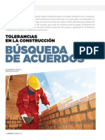 tolerancias en la construcción