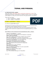 5. Prepositional and Phrasal Verbs.