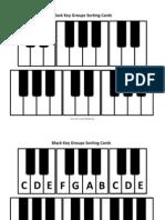 Black Key Groups Sorting Cards