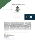 (Draft) VAT Bill- Bahamas