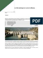 Hydropower Update Bhutan