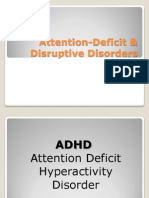 Attention-Deficit & Disruptive Disorders