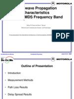 Microwave Propagation Characteristics