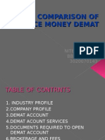 comparison of reliance money demat