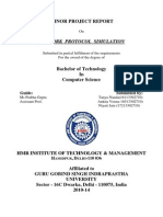 Cover Page of SIMULATION OF NETWORK PROTOCOLS