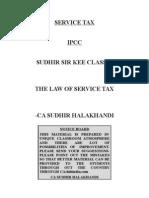 SERVICE TAX Class-2 Sudir Halakhandi
