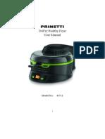 Printetti Drifry Healthy Fryer Manual