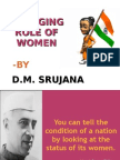 CHANGING ROLE OF WOMEN IN INDIA